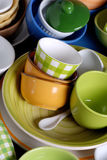 Colorful ceramic kitchen utensils Stock Photography