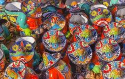 Colorful Ceramic Mexican Peasants Hats San Miguel de Allende Mexico Royalty Free Stock Photos