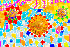 Colorful ceramic mosaic tile. Colorful ceramic mosaic tile art Royalty Free Stock Photo