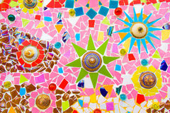 Colorful ceramic mosaic tile. Colorful ceramic mosaic tile art Stock Photography