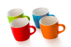 Colorful ceramic mugs Royalty Free Stock Photo