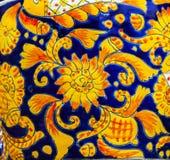 Colorful Ceramic Orange  Pot Dolores Hidalgo Mexico Royalty Free Stock Images