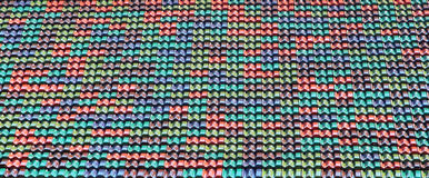 Colorful ceramic roof tiles as background Royalty Free Stock Photography