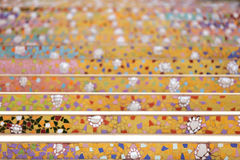 Colorful ceramic stairs Stock Image