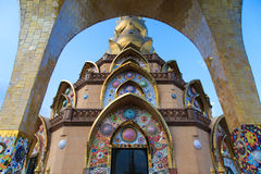 Colorful ceramic temple in Thailand Royalty Free Stock Photos
