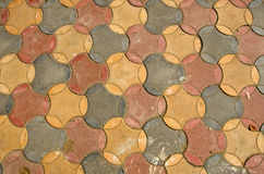 Colorful ceramic tile floor background Stock Photos