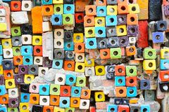 Colorful Ceramic Tile Patterns Background. Royalty Free Stock Images