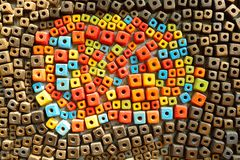 Colorful Ceramic Tile Patterns Background. Stock Photography