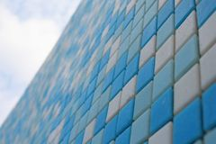 Colorful ceramic tiles pattern. Cororful ceramic white and blue tiles Royalty Free Stock Images