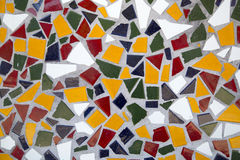 Colorful ceramic tiles  wall of building Royalty Free Stock Image