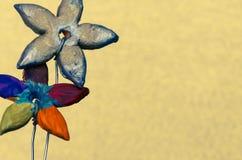 Colorful ceramics flower decoration Stock Image