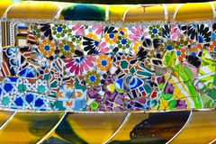 Colorful ceramics in Park Guell Royalty Free Stock Images