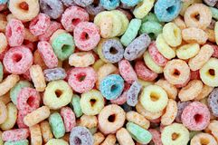 Colorful cereal for background Royalty Free Stock Photos