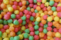 Colorful Cereal Balls royalty free stock images
