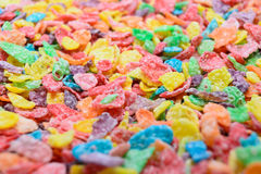 Colorful cereal close up Stock Images