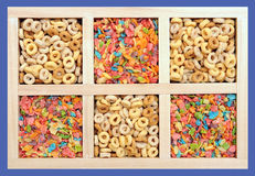 Colorful cereals Stock Photography