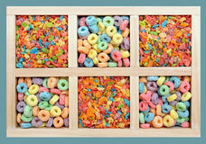 Colorful cereals Royalty Free Stock Images