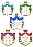 Colorful ceremonial royal mantles and crowns Stock Photo