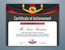 Colorful Certificate of Achievement Background Stock Photos