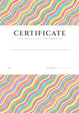 Colorful Certificate / Diploma background template Stock Photos