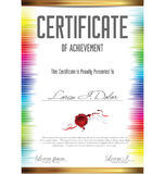 Colorful certificate template Royalty Free Stock Photography