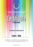 Colorful certificate template Stock Images