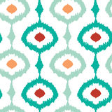 Colorful chain ikat seamless pattern background Royalty Free Stock Image