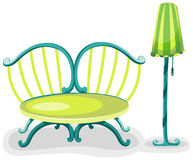 Colorful chair with lamp Royalty Free Stock Photos