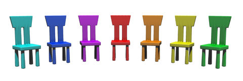 Colorful chairs Stock Photos