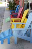 Colorful chairs Stock Images