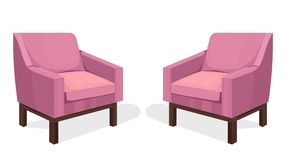 Colorful Chairs set Vector. Modern upholstery collection designs. Colorful Chairs set Vector. Modern upholstery collection design Royalty Free Stock Image