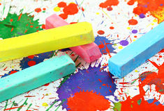Colorful chalk Stock Photos