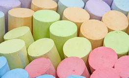 Colorful chalk. Photo of colorful chalk close up Royalty Free Stock Photos