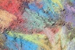 Colorful Chalk Background Stock Photo