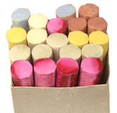 Colorful  chalk in box Stock Image