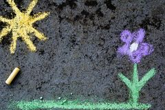 Free Colorful Chalk Drawing: Beautiful Flower Stock Photo - 103680910