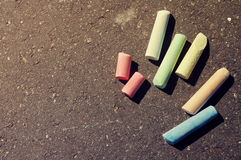 Colorful chalk Stock Photography