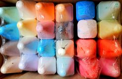 Colorful chalk. Multi color chalks Stock Images