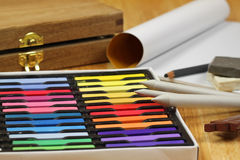 Colorful Chalk pastels Stock Image