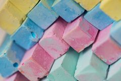Colorful chalk pastels - education, arts,creative, back to schoo Royalty Free Stock Photos