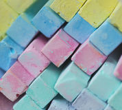 Colorful chalk pastels - education, arts,creative Stock Photos