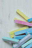Colorful chalk pastels - education, arts,creative Royalty Free Stock Images