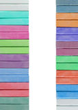 Colorful chalk pastels isolated on white Stock Image