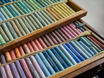 Colorful chalk pastels Stock Photo
