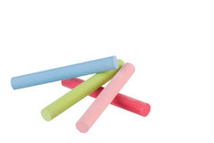 Colorful chalk sticks Royalty Free Stock Photography