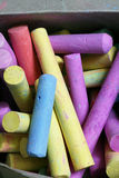 Colorful chalk sticks Stock Image