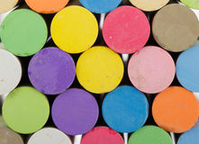 Colorful chalk sticks Stock Images