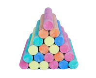 Colorful chalk . Stock Photos