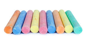 Colorful chalk . Stock Images