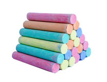 Colorful chalk . Royalty Free Stock Image
